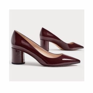 Zara Basic Collection Maroon Chunky Pointy Heels